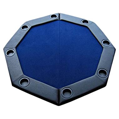 Padded Octagon Folding Poker Table Top Table Top: Blue
