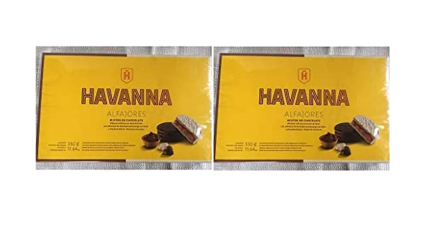 Amazon.com : Alfajores Havanna Mixtos Chocolate Negro y & Choc.Blanco c/dulce de leche x 6-2 PACK : Grocery & Gourmet Food