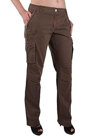 0994a4fc878 Napapijri Pantalones Vaqueros De Mujer Cargo Caqui Talla 42  RIF143 -  algodón
