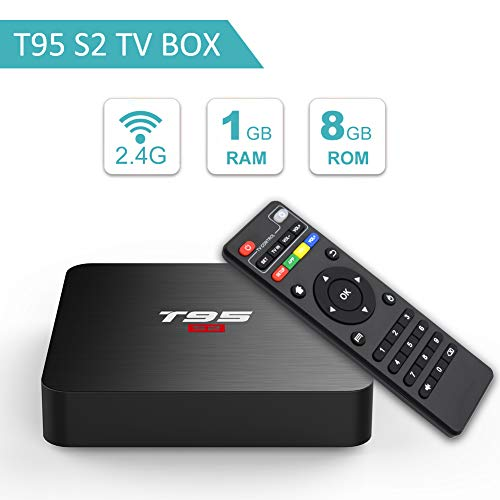 T95 S2 Android 7.1 tv Box with 1GB RAM 8GB ROM Amlogic S905W Quad-core 2.4G WiFi HDMI HD 3D 4K