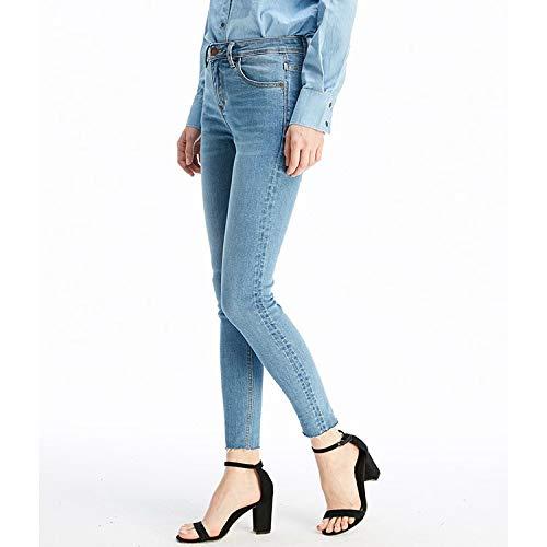 Jeans Colori Elastico Corpo Pantaloni Xs Donna Azzurro Vita M Due Mvguihzpo Jeans YUxwHa