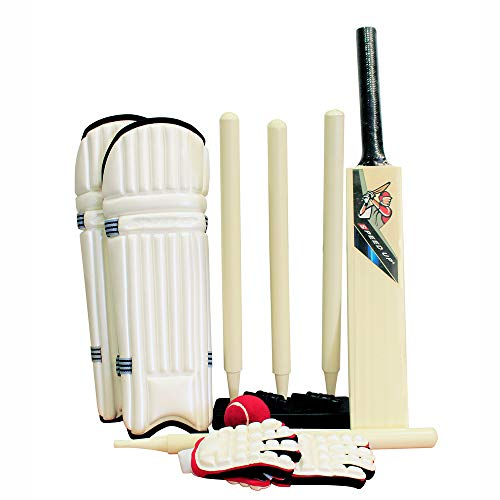 (AMBER Sports X-Treme for Junior Kids Cricket Set for Kids Upto 3 Years - Set Includes Bat, Gloves, Pads, Ball, Bails, Stumps, Wicket Base and Carrying Case)