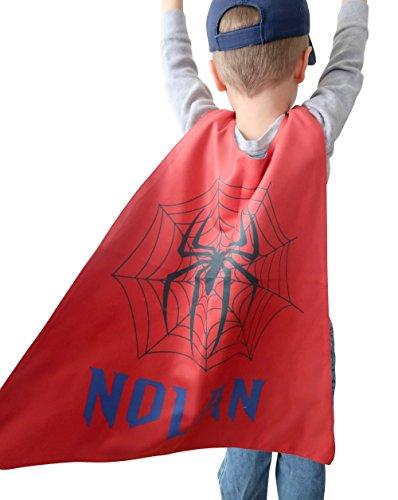 Personalized Kids Capes (Spiderweb), Superhero Costumes for Boys, Boys Spiderweb Cape for Kids, Superhero Capes for Toddlers, Kids Dress Up Cape, Superhero Costumes Toddler, Microfiber Cape ()