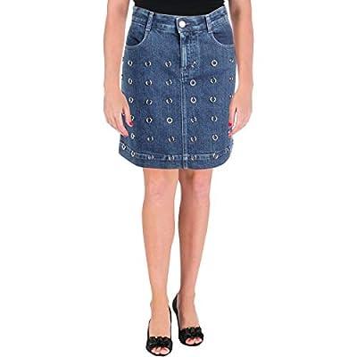 Stella McCartney Womens Grommet Above Knee Denim Skirt