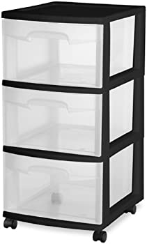 2-Pack Sterilite 3 Drawer Cart