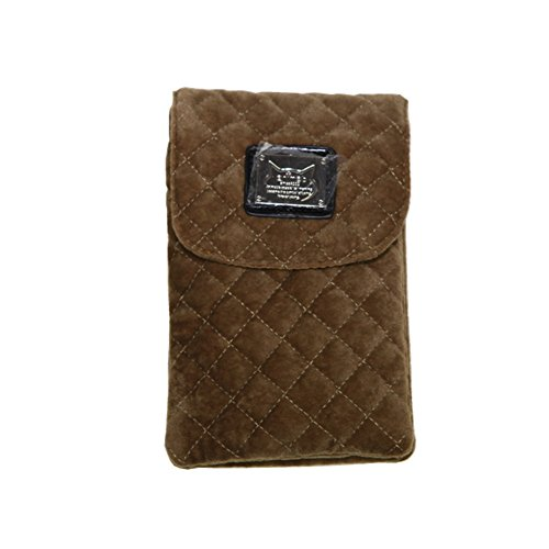 Turpro Universal Fashion Diamond Pattern Soft Microfiber Dual Layers Mini Portable Cellphone Bag and Purse Smart Phone Pouch Case Sleeve with Shoulder Strap for iPhone 5 5S 5C iPhone 6 iPhone 6 Plus iPhone 4 4s Samsung Galaxy Note 3 4 S4 S5 HTC One M8 Nokia Motorola Smart Phone (Brown)