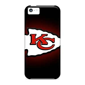 Shock Absorption Hard Phone Cover For Iphone 5c (sCB5909nSRV) Unique Design Realistic Kansas City Chiefs Pictures