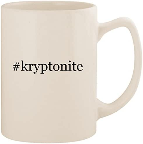 #kryptonite - White Hashtag 14oz Ceramic Statesman Coffee Mug Cup
