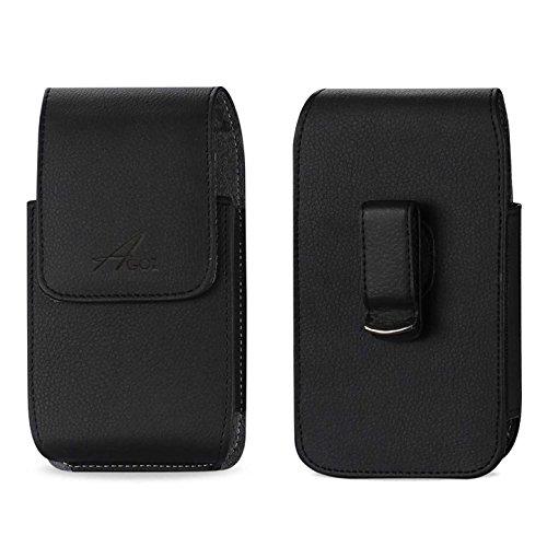 Vertical Leather AGOZ Case Pouch For Samsung Galaxy J7, Galaxy J7V, Galaxy J7 Sky Pro S727VL, J7 Perx, J7 Prime, J7 PRO J730, J7 Star, J7 Refine, J7 Crown, Halo, Neo, Swivel Belt Clip Magnetic Closure