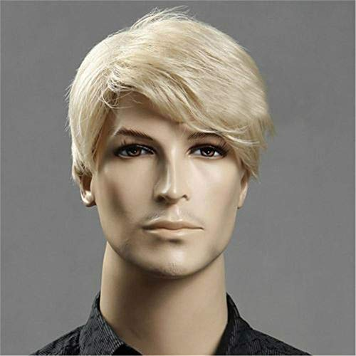 JYWIGS Male Wig Blond Short Hair for Men