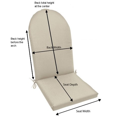 TeakStation Sunbrella Fabric Seat & Back Cushion for Adirondack Chair [Click to see more options]