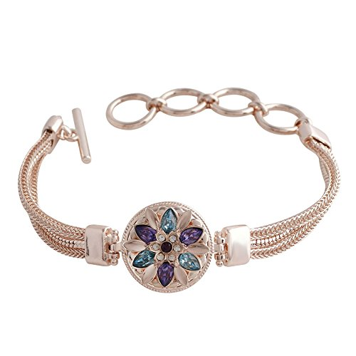 Snap Charm Rose Gold Plated Bracelet Standard Snap 20mm Includes Snap Shown Fits Ginger Snaps ()