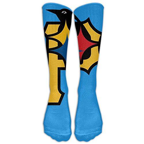 Pittsburgh Steelers Team Logo Unisex Knee Length Socks Tube Socks New Highly Elastic Comfortable Knee High (Halloween Ballots)