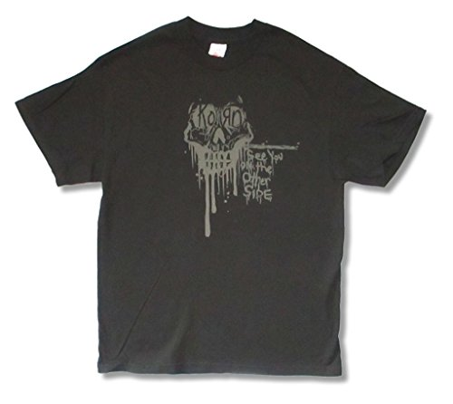 Korn Dripping Skull See You on the Other Side Black T Shirt Adult (L) (Korn T-shirts Printed)
