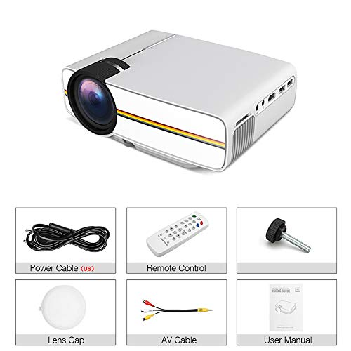 Meiyum Portable Mini Projector, Universal HD 138 Inch Portable Mini Projector Supporting Mobile Phone with Screen Compatible for PS4/Laptop/XBOX/SD/AV/USB