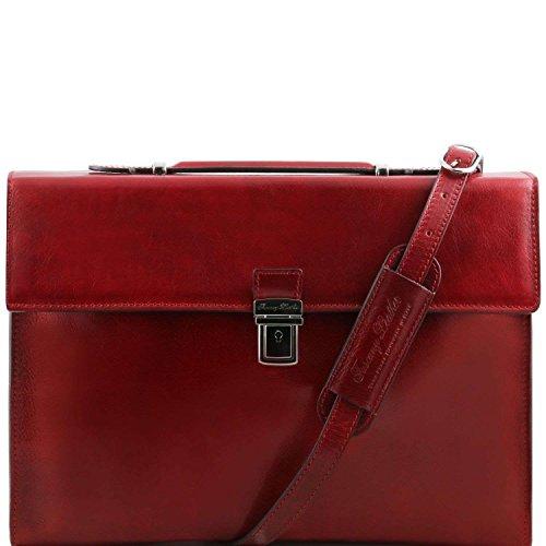 Tuscany Leather - Como - Serviette Porte-documents en cuir - Rouge