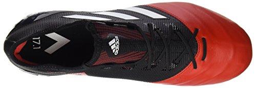 adidas Ace 17.1 Leather SG, Scarpe da Calcio Uomo Nero (Core Black/Footwear White/Red)