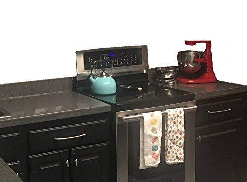 gabinetes de cocina blancos con encimeras de esteatita EZ FAUX DECOR Mrmol Autoadhesivo Granito Gris Esteatita