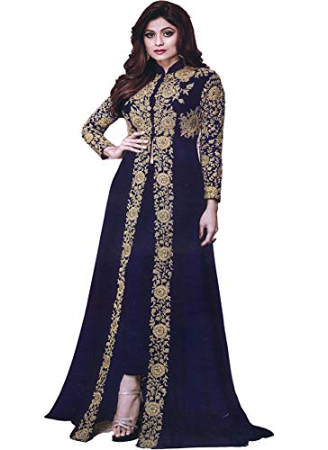 AZAD TRENDS Presenting Festive collection Beautiful Designer Semi-Stitched with Heavy Embroidered Suit (Colour-Maroon)