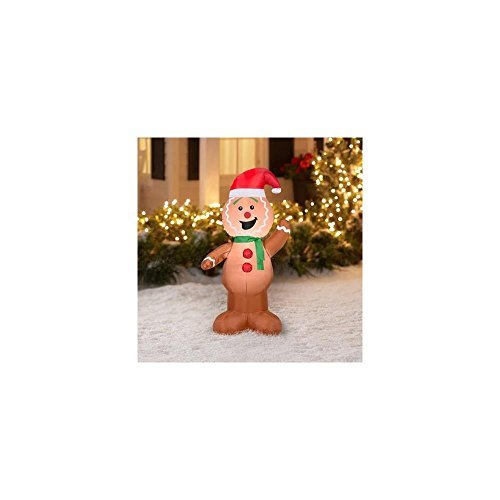 Gemmy Inflateables Holiday G08 37562 Air Blown Gingerbread Decor (Air Blown Inflatables)