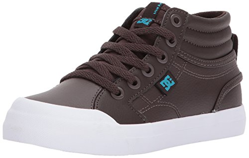 DC Boys' Youth Evan Hi Skate Shoe, Brown, 6 M US Big Kid