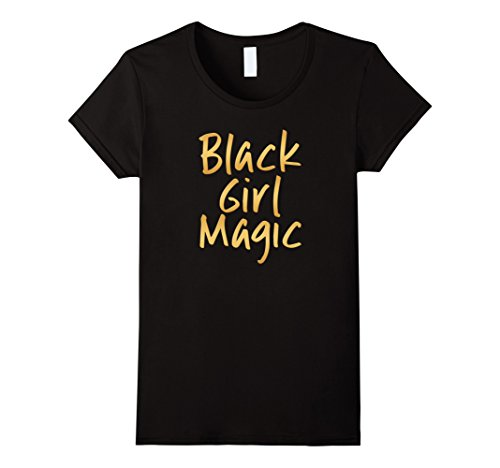Womens Black Girl Magic T-Shirt Gold Melanin Ebony Queen XL - Ebony Gold