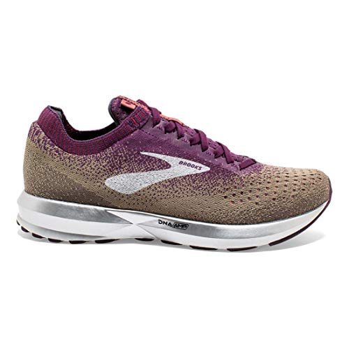 Brooks Women's Levitate 2 Cashmere/Bloom/Silver Cashmere/Bloom/Silver Nylon Running Shoes 8 (B(M)) US