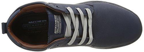 Skechers (SKEES) Palen, Zapatillas de Deporte para Hombre Azul (Azul (NVY))