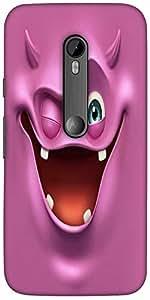 Caso De La Cubierta Trasera Protectora Snoogg Púrpura Devil Ghost 2685 Del Di...