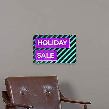 Modern Block Premium Brushed Aluminum Sign 5-Pack CGSignLab Holiday Sale 27x18