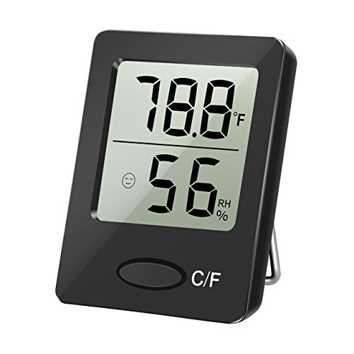 - HoLife Hygrometer Thermometer,Thermometer and Humidity Gauge with Digital Temperature Gauge Wall Hanging Magnet for Bedroom Basement Babyroom
