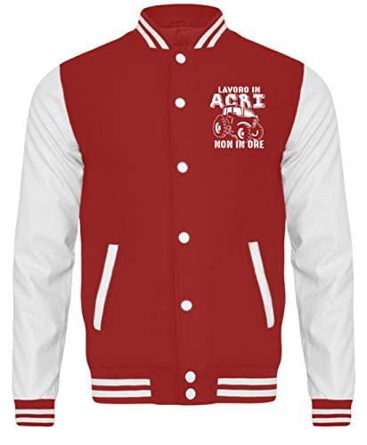 Shirtee Trattore Rosso Bianco Sudore Acri College Fuoco Giacca Agricoltore HTHxOZw4qg