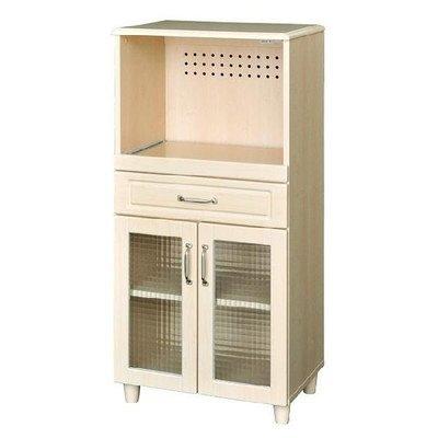 ホワイトナチュラル家具シリーズ ホワイトナチュラル レンジ台 (60cm幅) PAS120-60L B00E03SCOO