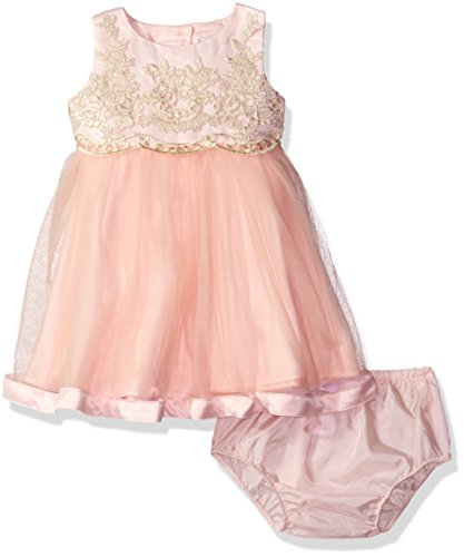 Rare Editions Baby Girls' Ballerina Dress, Blush/Gold, 24M - Rare Editions Baby Dresses
