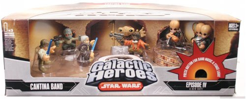 (Star Wars Galactic Heroes Deluxe Cinema Scene Mini Figure Multi Pack Cantina Band)