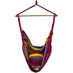 Sorbus Brazilian Hammock Chair Swing Seat for Any Indoor or Outdoor Spaces, Multi-Color
