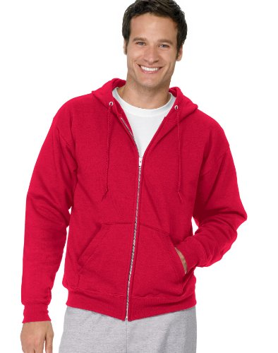 Hanes Men's Full Zip EcoSmart Fleece Hoodie, Deep