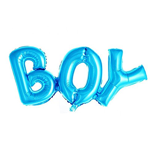 Simple polymer Boy & Girl Alphabet Letters Balloons Foil Balloons Mylar Balloons for Party Decoration, Pink, Blue