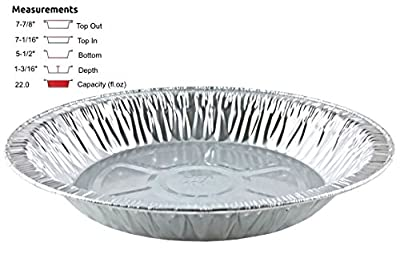 "Handi-Foil 8"" Extra-Deep Aluminum Foil Pie Pan -Disposable Tin Plates (Pack of 500)"