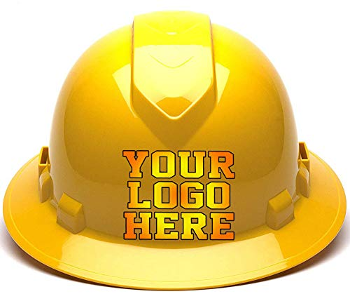 Custom Hard Hats - Personalized Logo - Pyramex Ridgeline Full Brim Vented 4 Point Ratchet Suspension from Safety Miracle