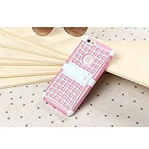 YULIN Creative Grid TPU Back Case with Stand for iPhone 6 (Assorted Colors) , Green
