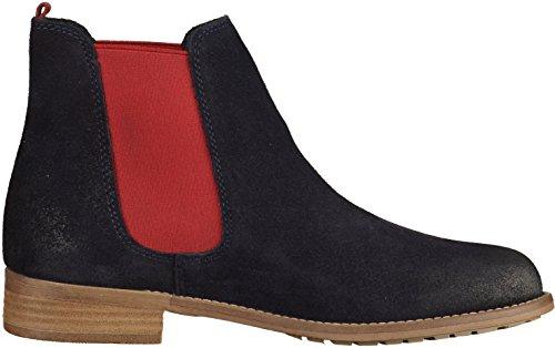 Tamaris Womens Chelsea Boots BlueRed Blue Size: 6: Amazon