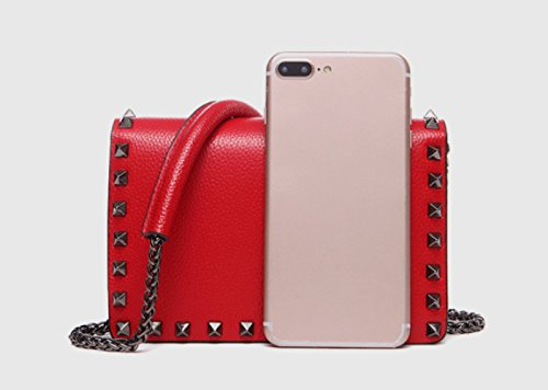 Piccolo Sacchetto Casuale Della Giorni Di Spalla I Signora Stile Lusso Rosso Tutti In Shopping rqdCrwx