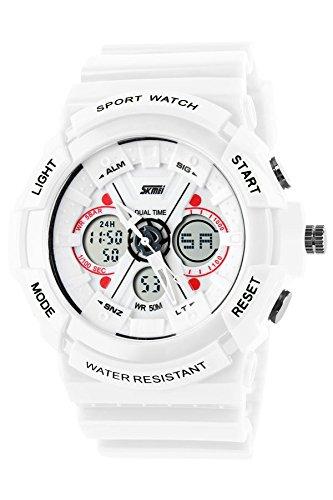 SKMEI 0966 Sports Watch Army Military (White) - 1