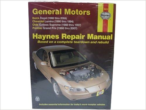 Haynes repair manuals gm regal lumina grand prix cutlass haynes repair manuals gm regal lumina grand prix cutlass supreme 88 07 38010 robert haynes john h maddox 0038345016714 amazon books fandeluxe Images