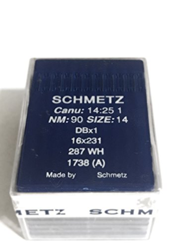 - Schmetz Industrial Sewing Machine Ball Point Needles (SIZE 14) — Designed for Sewing On Knits - For Straight Stitch/Single Needle Industrial Sewing Machines - (Box of 100 Needles)