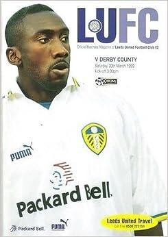 Leeds United Derby County 20/03/99 ELLAND Road football programme (GR1)