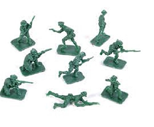 Classic Mini Green Army Men Toy Soldiers (package of 144)