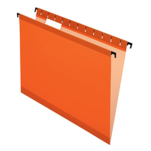 Esselte Pendaflex Hanging Folder - Pendaflex SureHook Reinforced Hanging Folders, Letter Size, Orange, 20 per Box (6152 1/5 ORA)