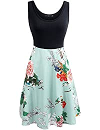 Simier Fariry Women's Scoop Neck Pockets Floral Print...